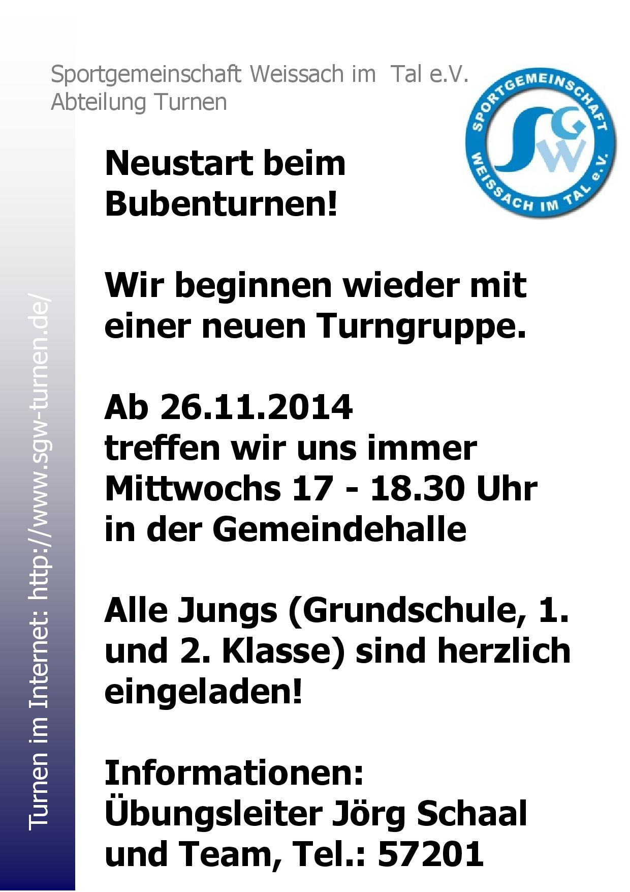 sgw_rahmen_Ankündigung Bubenturnen Herbst 2014-001